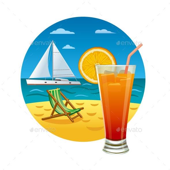 Orange Cocktail - Travel Conceptual