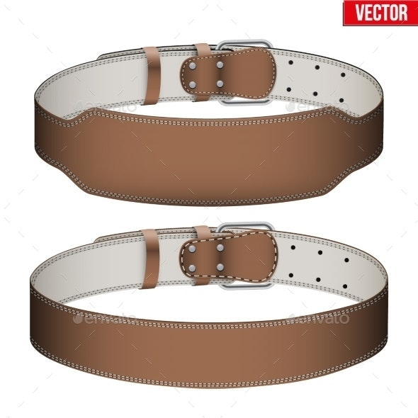 Mockup Weightlifting GYM Leather Belt - Sports/Activity Conceptual
