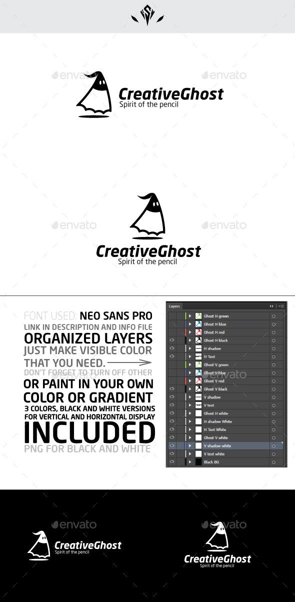 Creative Ghost Logo - Vector Abstract