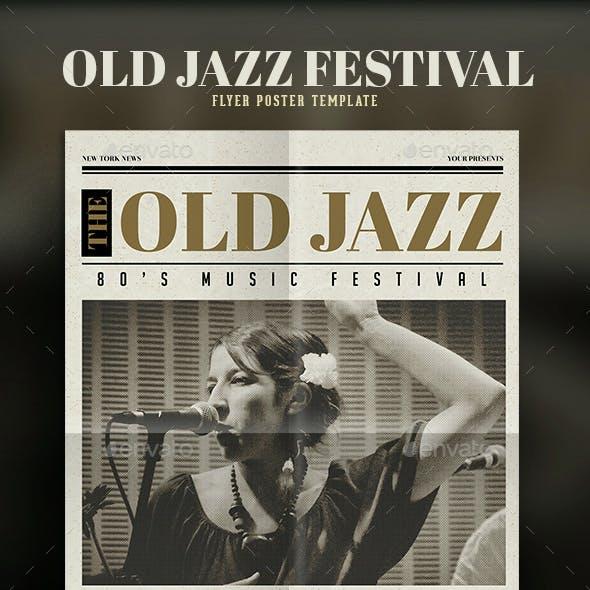 Old Newspaper Jazz Flyer
