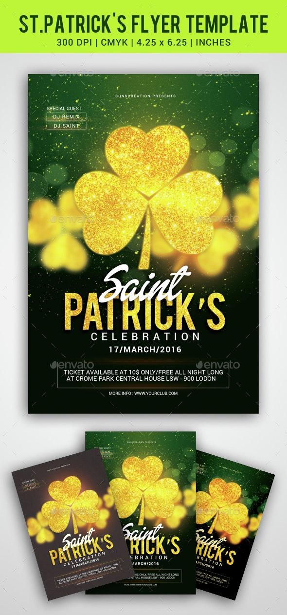 St.Patrick's Celebration Party Flyer Template - Clubs & Parties Events