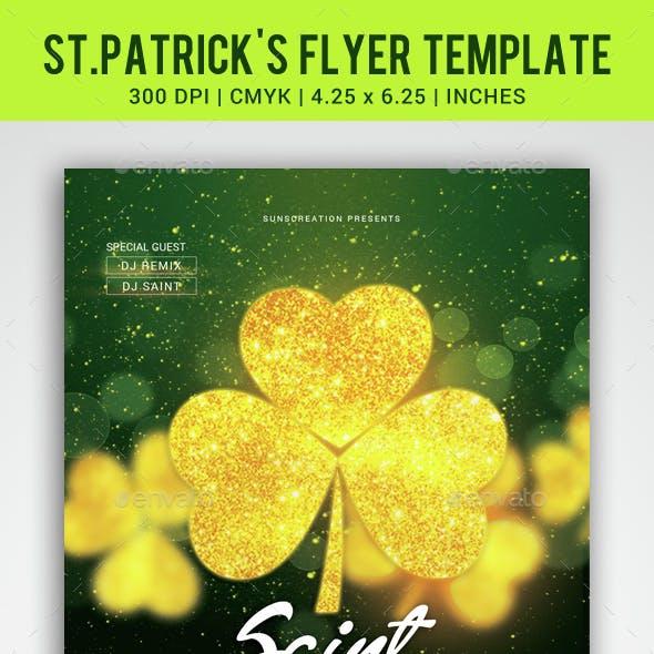 St.Patrick's Celebration Party Flyer Template