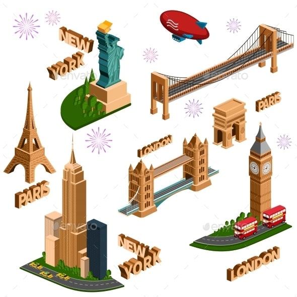 Famous Building Set - Buildings Objects