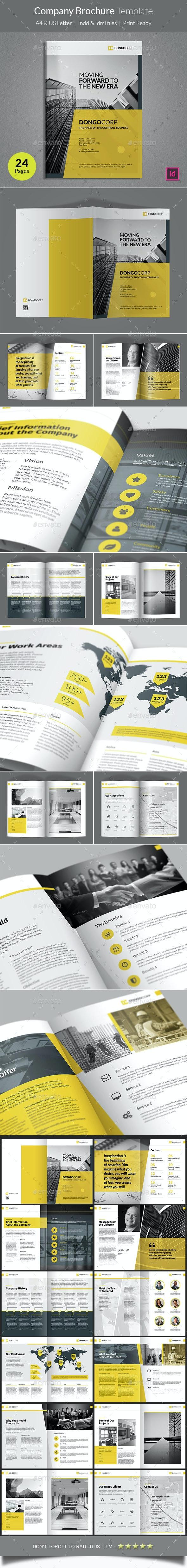 Company Brochure Template - Corporate Brochures