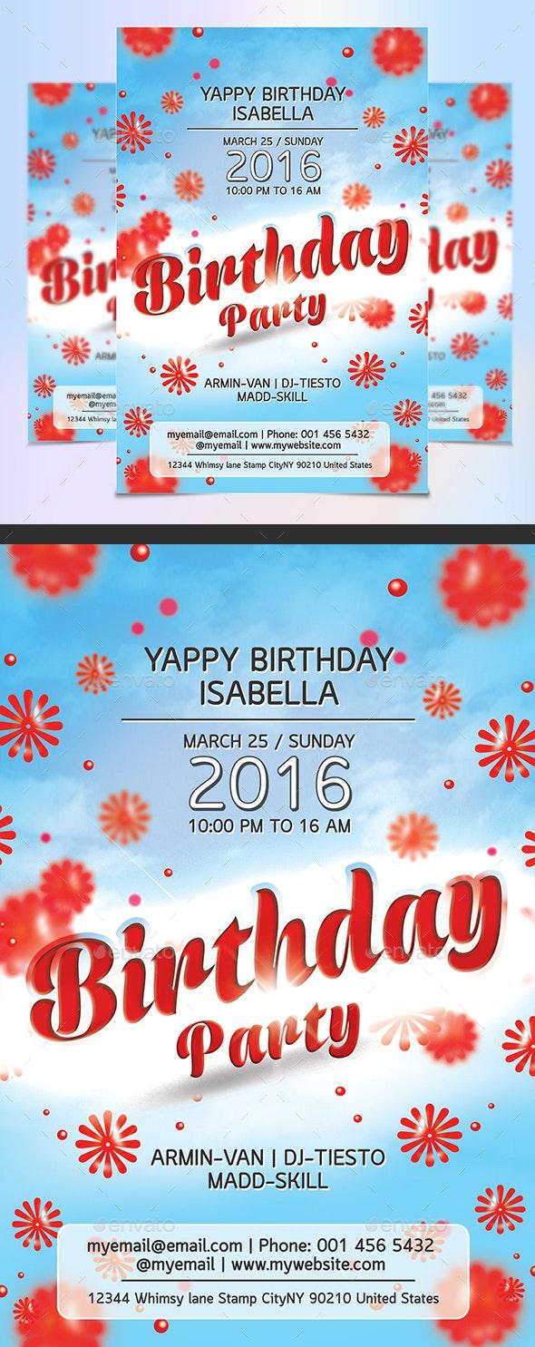 Birthday Flyer - Events Flyers