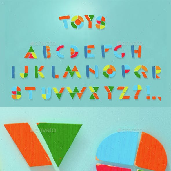 ABC  children toys letters