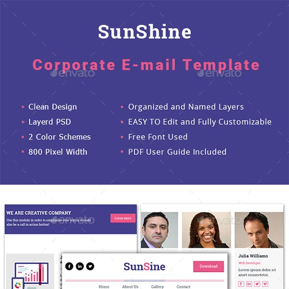 Multipurpose SunShine Email Template