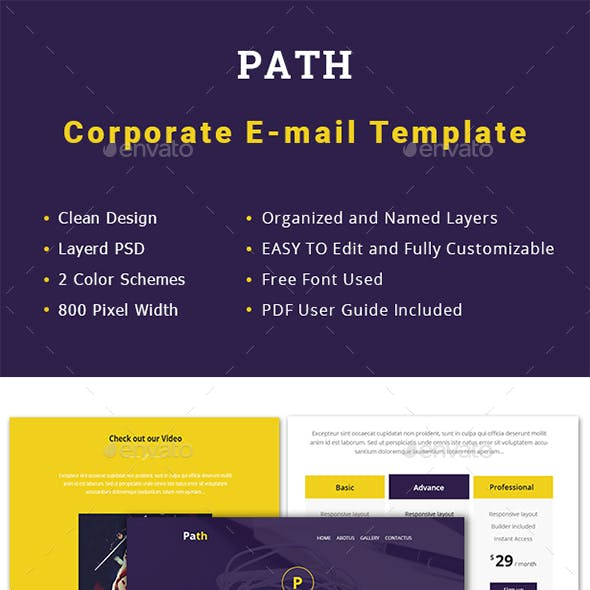 Multipurpose Path Email Template