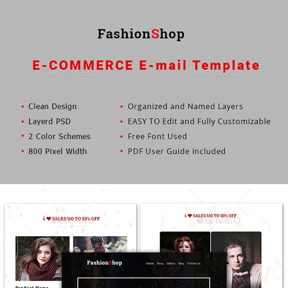 Multipurpose FashionShop Email Template