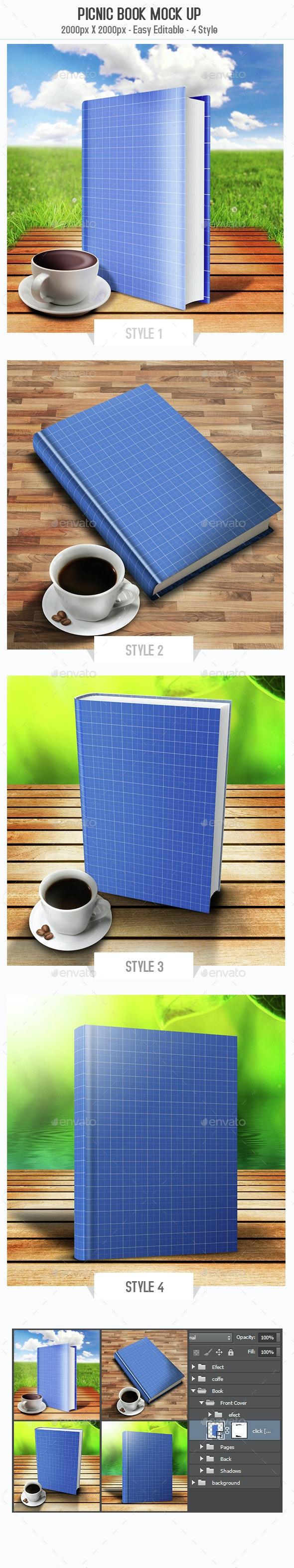 Picnic Book Mock Up - Books Print
