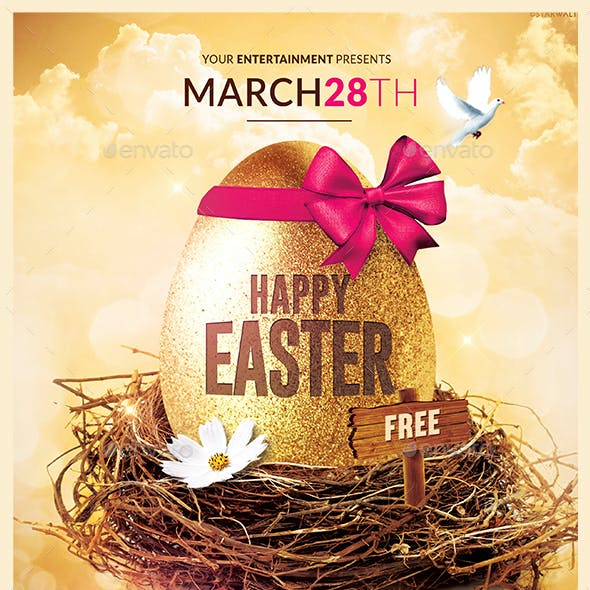 Happy Easter | Flyer Psd Template