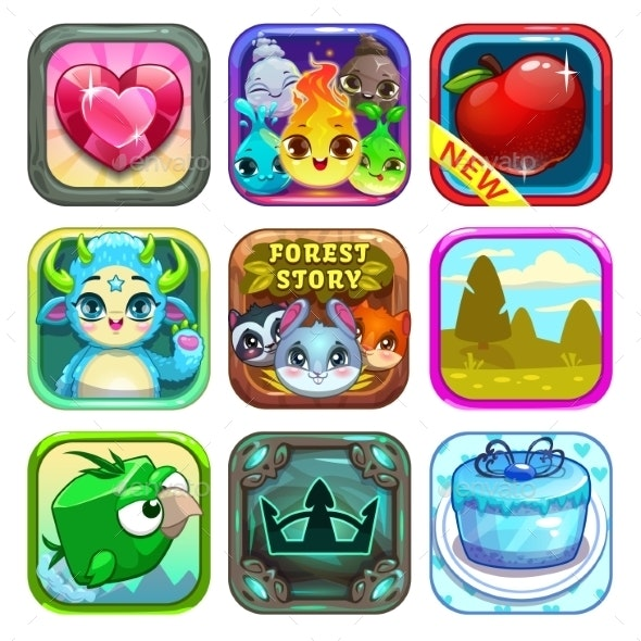 App Store Game Icons - Web Technology