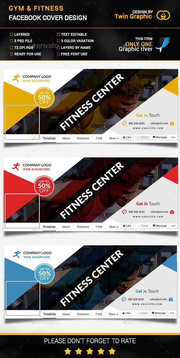 Gym & Fitness cover photo design. - Facebook Timeline Covers Social Media