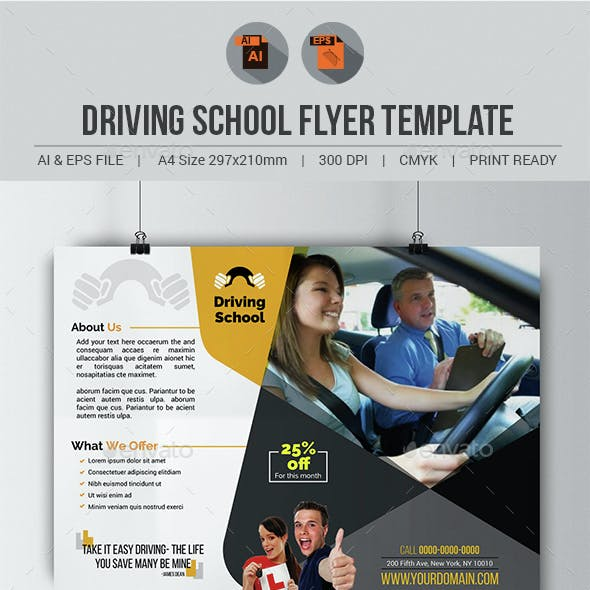 Driving School Flyer Template
