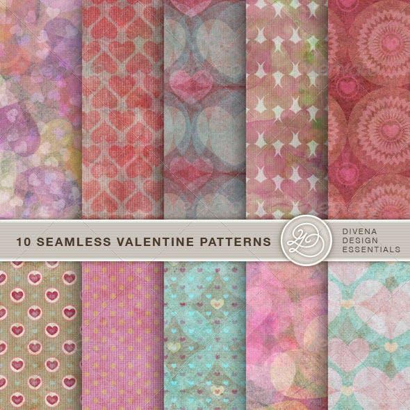 10 Seamless Valentine Patterns No.2