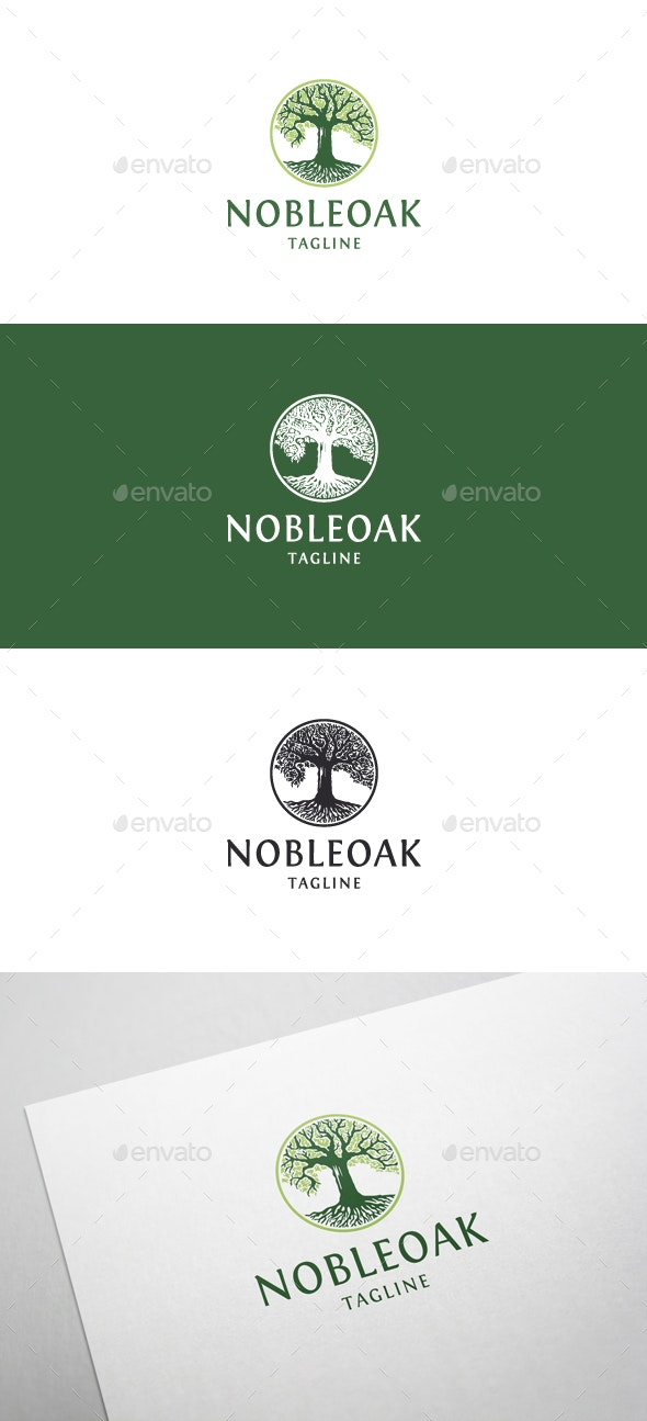 Noble Oak Logo - Nature Logo Templates