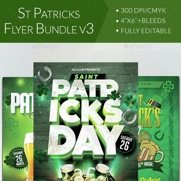 St Patricks Day Flyer Bundle V3