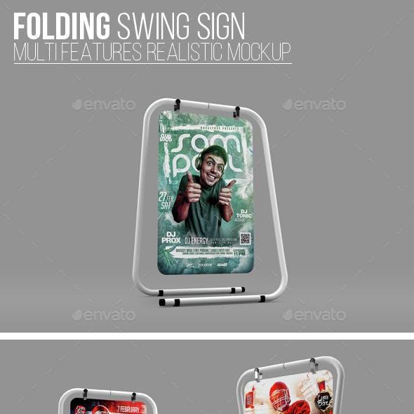 Folding Swing Sign Mockup