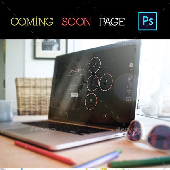 Creative Coming Soon PSD Template