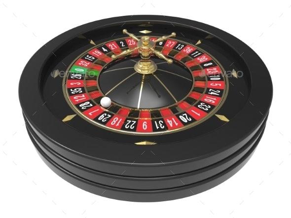 Casino Roulette Wheel - Objects 3D Renders