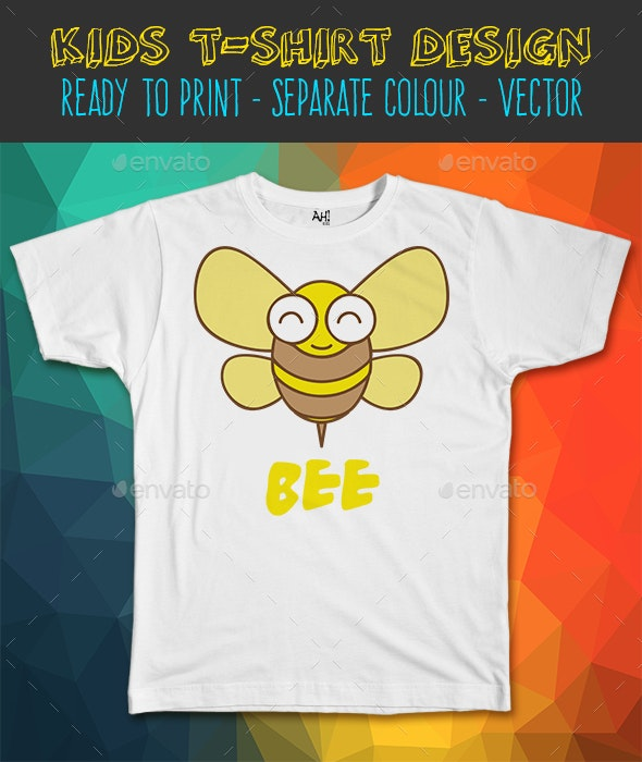 Bee Kids T-Shirt Design - Funny Designs