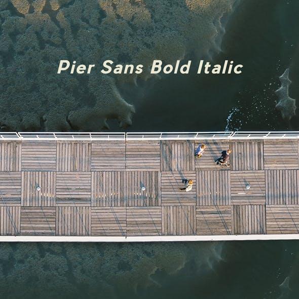 Pier Sans Bold Italic