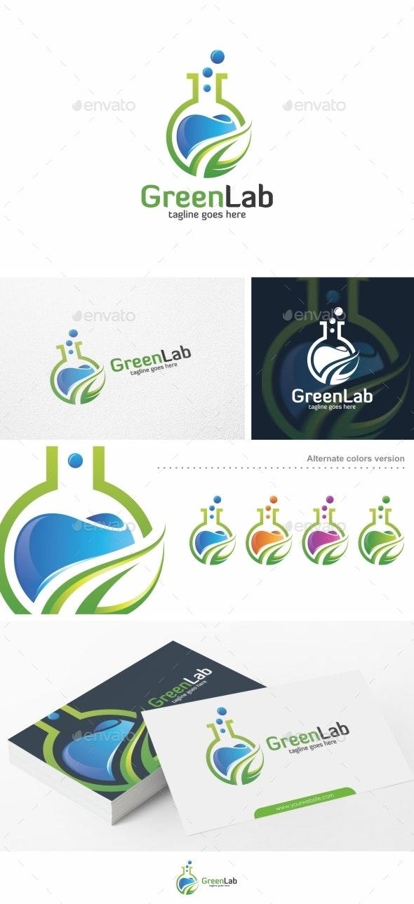 Green Lab - Logo Template - Nature Logo Templates