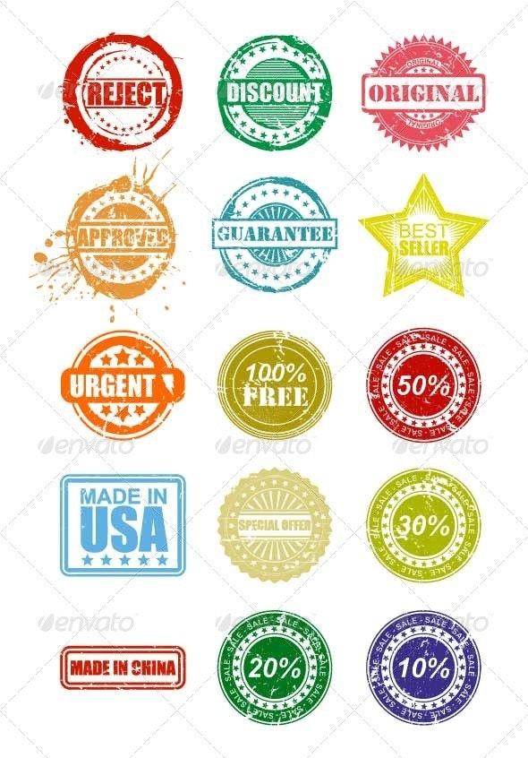 Grunge Stamps - Web Elements Vectors