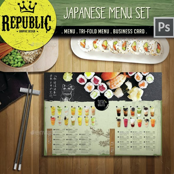 Japanese Menu Set