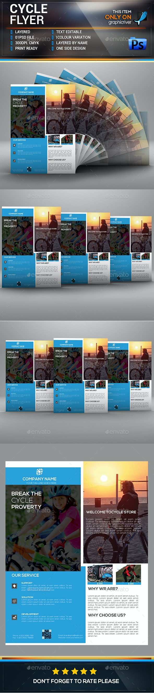 Cycle Flyer. - Flyers Print Templates