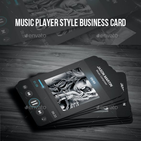 Music Player Style Business Card