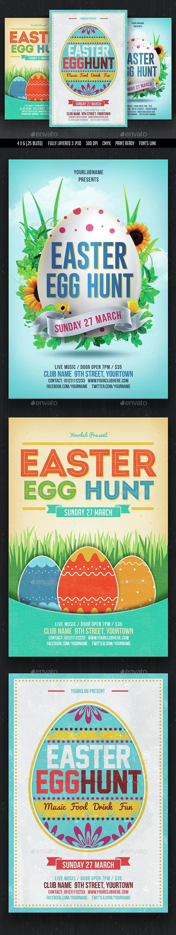 Easter Egg Hunt Flyer Bundle - Events Flyers