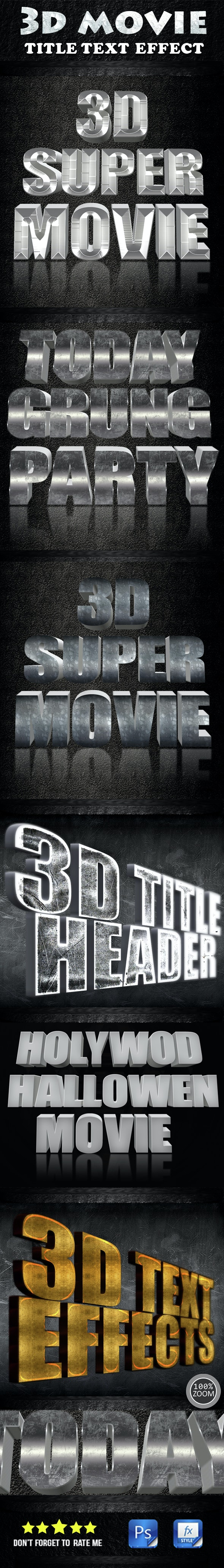 3D Movie Title Text Effect - Text Effects Styles