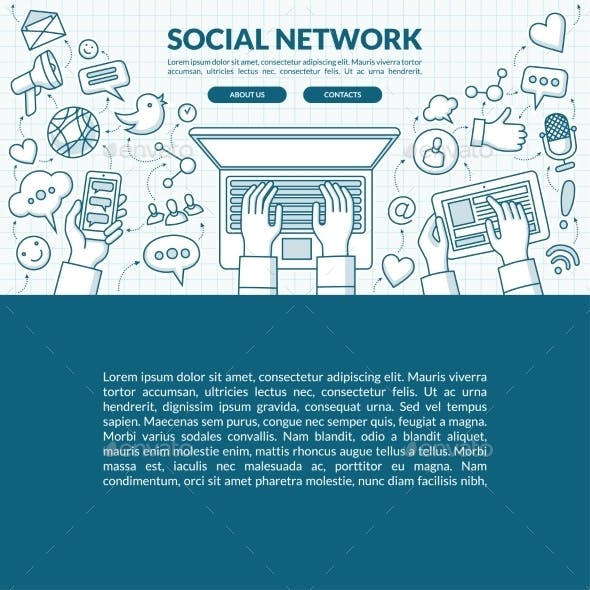 Social Network Concept Illustration