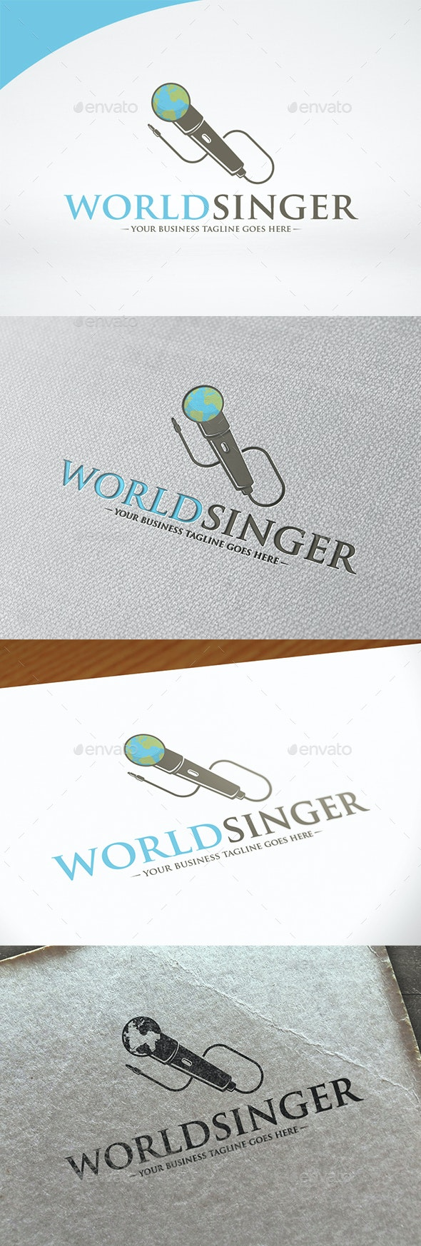 World Singer Logo Template - Objects Logo Templates