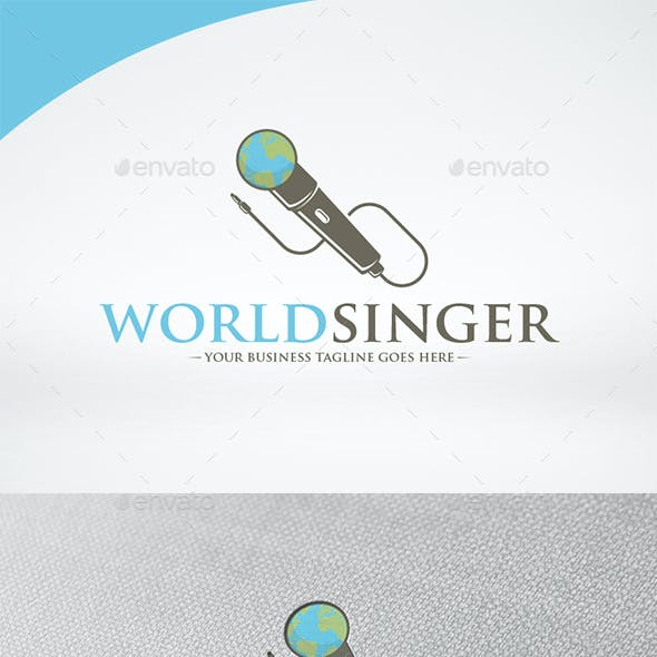World Singer Logo Template