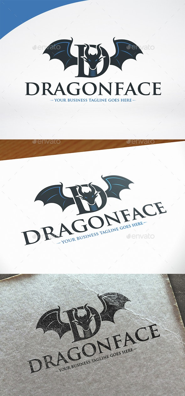 Dragon Letter D Logo Template - Animals Logo Templates