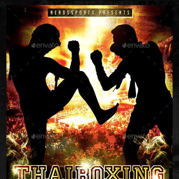 Thai Boxing Championships Sports Flyer