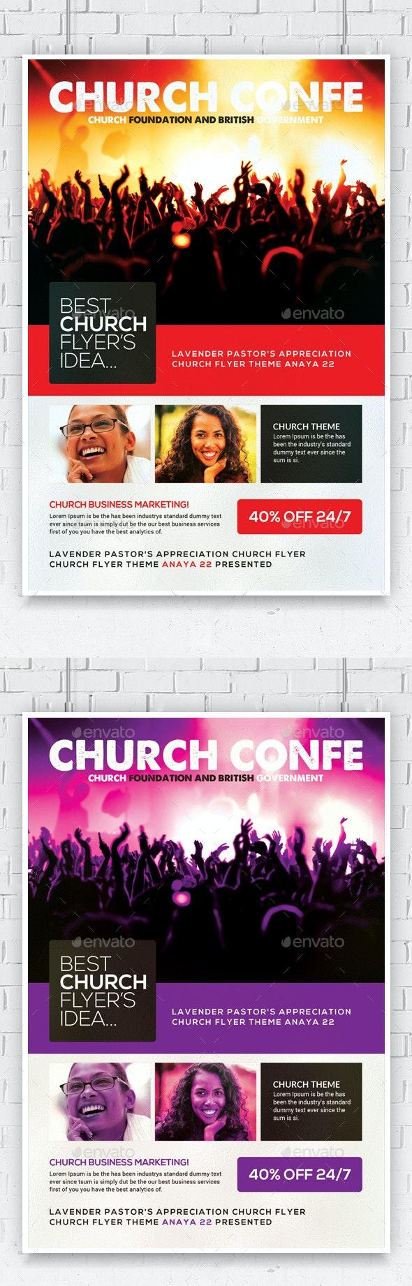 Gospel Glory Church Flyer  - Church Flyers