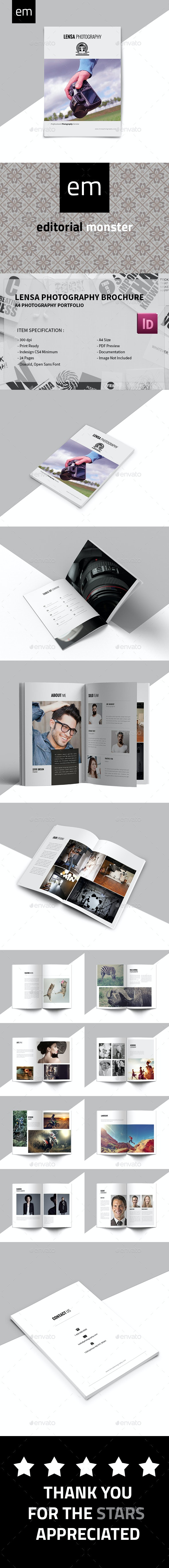 Lensa Photography Brochure - Portfolio Brochures