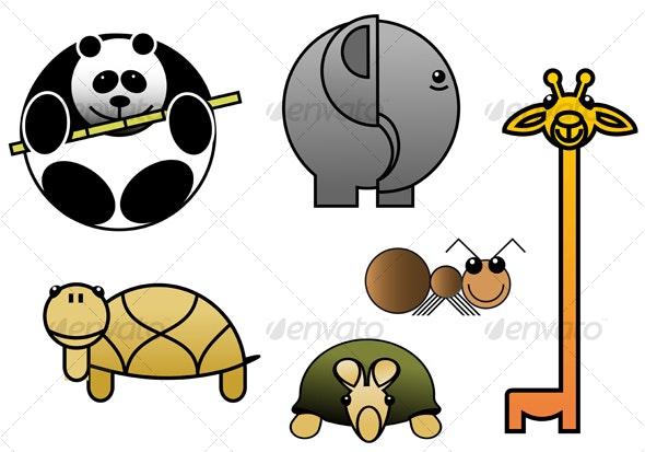 Beautiful cartoon animal babies - Animals Characters