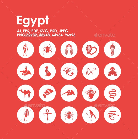 20 Egypt icons