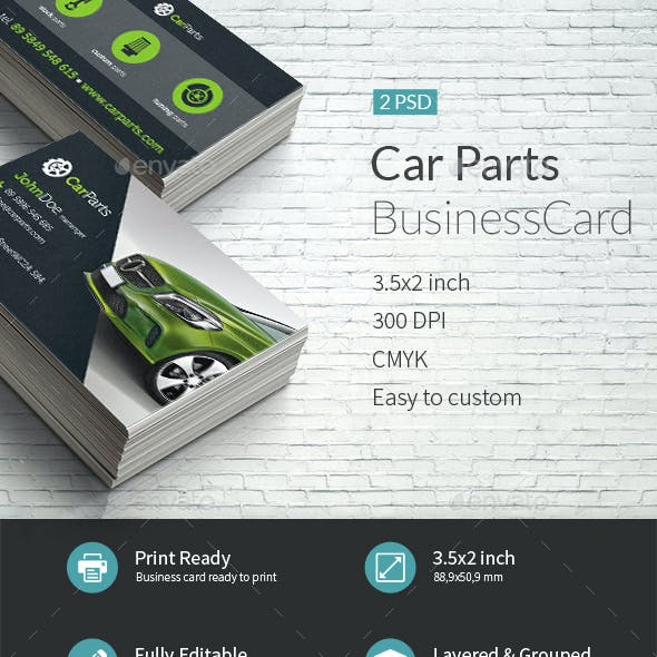 Car Parts BusinessCard Template