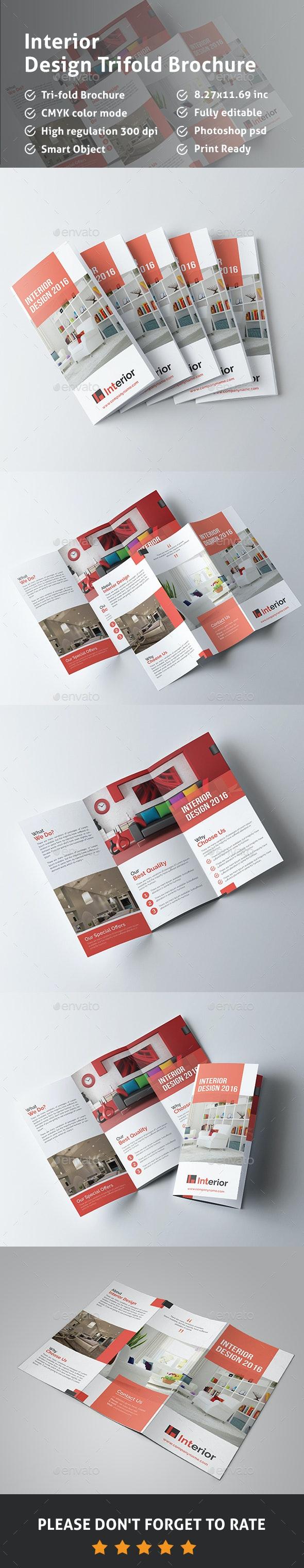 Interior Design Trifold Brochure - Corporate Brochures