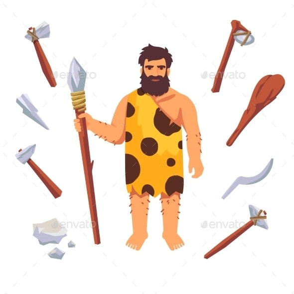 Stone Age Primitive Man - People Characters