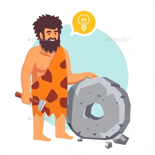 Stone Age Primitive Man Had an Idea - People Characters