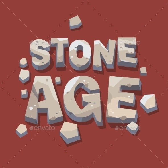 Stone Age Writing 3D Letters - Miscellaneous Conceptual