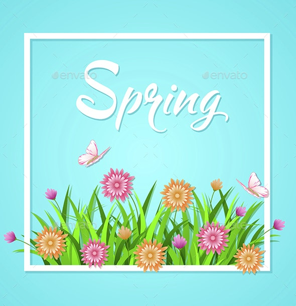 Blue Spring Background  - Seasons Nature