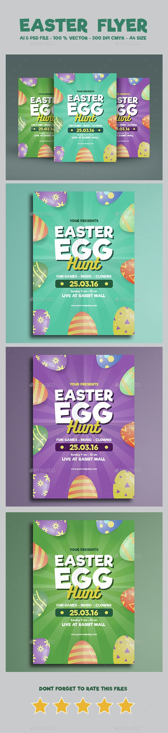 Easter Flyer Vol 02 - Holidays Events