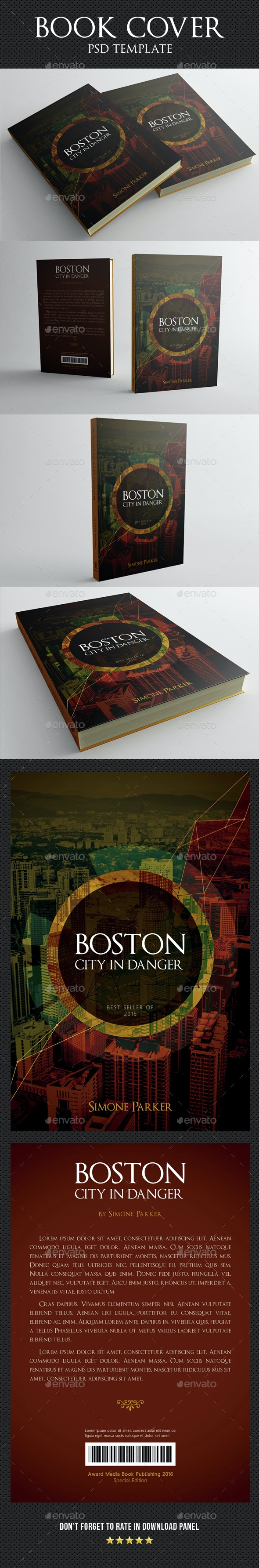 Book Cover Template 06 - Miscellaneous Print Templates